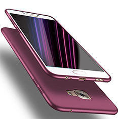 Silikon Hülle Handyhülle Ultra Dünn Schutzhülle S02 für Samsung Galaxy C7 SM-C7000 Violett