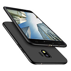 Silikon Hülle Handyhülle Ultra Dünn Schutzhülle S02 für Samsung Galaxy J2 Pro (2018) J250F Schwarz