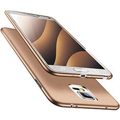Silikon Hülle Handyhülle Ultra Dünn Schutzhülle S02 für Samsung Galaxy Note 4 Duos N9100 Dual SIM Gold