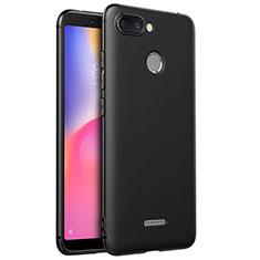 Silikon Hülle Handyhülle Ultra Dünn Schutzhülle S02 für Xiaomi Redmi 6 Schwarz