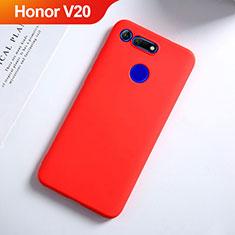 Silikon Hülle Handyhülle Ultra Dünn Schutzhülle S03 für Huawei Honor V20 Rot