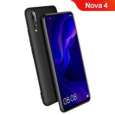 Silikon Hülle Handyhülle Ultra Dünn Schutzhülle S03 für Huawei Nova 4 Schwarz