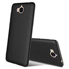 Silikon Hülle Handyhülle Ultra Dünn Schutzhülle S03 für Huawei Y6 (2017) Schwarz