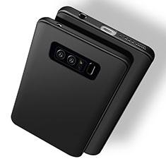 Silikon Hülle Handyhülle Ultra Dünn Schutzhülle S03 für Samsung Galaxy Note 8 Duos N950F Schwarz