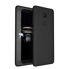 Silikon Hülle Handyhülle Ultra Dünn Schutzhülle S03 für Xiaomi Redmi Note 4 Schwarz
