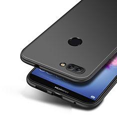 Silikon Hülle Handyhülle Ultra Dünn Schutzhülle S04 für Huawei Enjoy 7S Schwarz