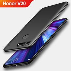 Silikon Hülle Handyhülle Ultra Dünn Schutzhülle S04 für Huawei Honor V20 Schwarz