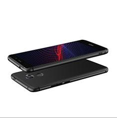Silikon Hülle Handyhülle Ultra Dünn Schutzhülle S04 für Huawei Y7 Prime Schwarz