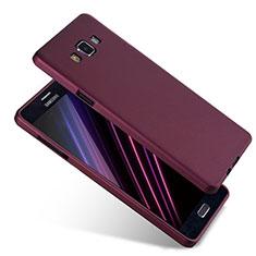 Silikon Hülle Handyhülle Ultra Dünn Schutzhülle S04 für Samsung Galaxy A7 Duos SM-A700F A700FD Violett