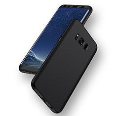 Silikon Hülle Handyhülle Ultra Dünn Schutzhülle S04 für Samsung Galaxy S8 Schwarz