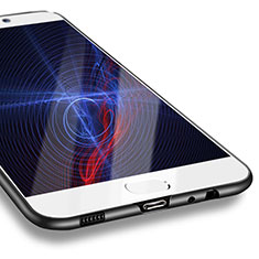Silikon Hülle Handyhülle Ultra Dünn Schutzhülle S10 für Huawei P10 Schwarz