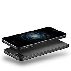 Silikon Hülle Handyhülle Ultra Dünn Schutzhülle Silikon für Apple iPhone 5S Schwarz