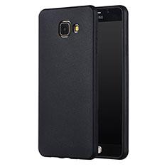 Silikon Hülle Handyhülle Ultra Dünn Schutzhülle Silikon für Samsung Galaxy A7 (2017) A720F Schwarz