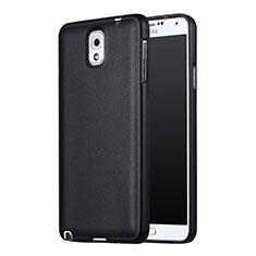 Silikon Hülle Handyhülle Ultra Dünn Schutzhülle Silikon für Samsung Galaxy Note 3 N9000 Schwarz
