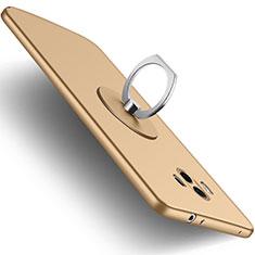 Silikon Hülle Handyhülle Ultra Dünn Schutzhülle Silikon mit Fingerring Ständer für Huawei Mate 10 Gold