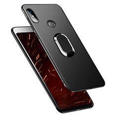 Silikon Hülle Handyhülle Ultra Dünn Schutzhülle Silikon mit Fingerring Ständer für Xiaomi Redmi S2 Schwarz