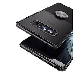 Silikon Hülle Handyhülle Ultra Dünn Schutzhülle Silikon mit Magnetisch Fingerring Ständer für Samsung Galaxy Note 8 Duos N950F Schwarz