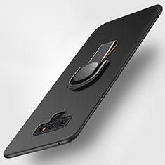 Silikon Hülle Handyhülle Ultra Dünn Schutzhülle Silikon mit Magnetisch Fingerring Ständer für Samsung Galaxy Note 9 Schwarz
