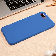Silikon Hülle Handyhülle Ultra Dünn Schutzhülle Tasche A01 für Oppo R17 Neo Blau
