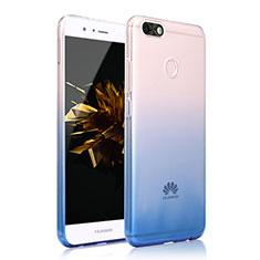 Silikon Hülle Handyhülle Ultra Dünn Schutzhülle Tasche Durchsichtig Farbverlauf für Huawei Y6 Pro (2017) Blau