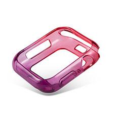 Silikon Hülle Handyhülle Ultra Dünn Schutzhülle Tasche Durchsichtig Transparent Farbverlauf G01 für Apple iWatch 5 44mm Rot