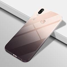 Silikon Hülle Handyhülle Ultra Dünn Schutzhülle Tasche Durchsichtig Transparent Farbverlauf G01 für Huawei P20 Lite Schwarz