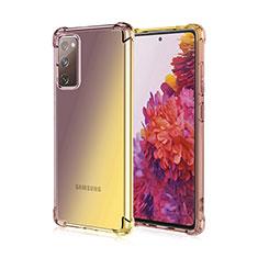 Silikon Hülle Handyhülle Ultra Dünn Schutzhülle Tasche Durchsichtig Transparent Farbverlauf G01 für Samsung Galaxy S20 FE 5G Braun