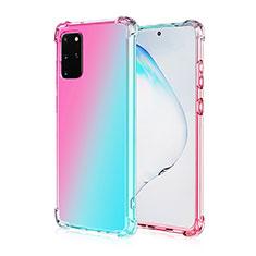Silikon Hülle Handyhülle Ultra Dünn Schutzhülle Tasche Durchsichtig Transparent Farbverlauf G01 für Samsung Galaxy S20 Plus 5G Plusfarbig