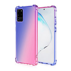 Silikon Hülle Handyhülle Ultra Dünn Schutzhülle Tasche Durchsichtig Transparent Farbverlauf G01 für Samsung Galaxy S20 Ultra 5G Plusfarbig