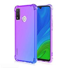 Silikon Hülle Handyhülle Ultra Dünn Schutzhülle Tasche Durchsichtig Transparent Farbverlauf H01 für Huawei P Smart (2020) Blau