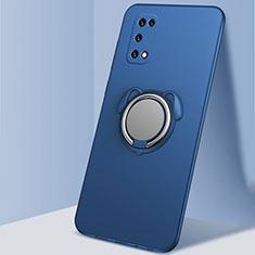 Silikon Hülle Handyhülle Ultra Dünn Schutzhülle Tasche Flexible mit Magnetisch Fingerring Ständer A03 für Oppo K7x 5G Blau