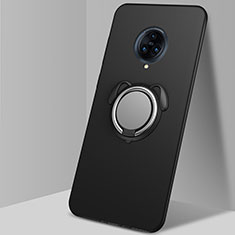 Silikon Hülle Handyhülle Ultra Dünn Schutzhülle Tasche Flexible mit Magnetisch Fingerring Ständer A03 für Vivo Nex 3 Schwarz