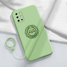Silikon Hülle Handyhülle Ultra Dünn Schutzhülle Tasche Flexible mit Magnetisch Fingerring Ständer für OnePlus 8T 5G Minzgrün