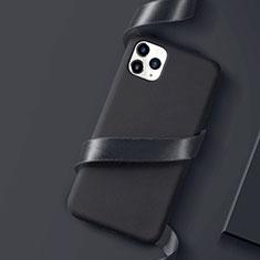 Silikon Hülle Handyhülle Ultra Dünn Schutzhülle Tasche S01 für Apple iPhone 11 Pro Max Schwarz