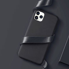 Silikon Hülle Handyhülle Ultra Dünn Schutzhülle Tasche S01 für Apple iPhone 11 Pro Schwarz