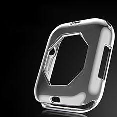 Silikon Hülle Handyhülle Ultra Dünn Schutzhülle Tasche S01 für Apple iWatch 4 44mm Grau