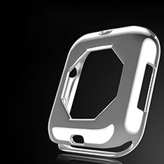 Silikon Hülle Handyhülle Ultra Dünn Schutzhülle Tasche S01 für Apple iWatch 4 44mm Klar