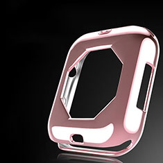 Silikon Hülle Handyhülle Ultra Dünn Schutzhülle Tasche S01 für Apple iWatch 4 44mm Rosegold
