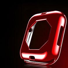 Silikon Hülle Handyhülle Ultra Dünn Schutzhülle Tasche S01 für Apple iWatch 4 44mm Rot