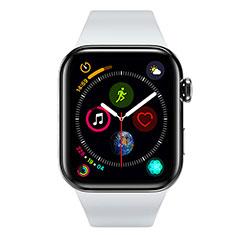 Silikon Hülle Handyhülle Ultra Dünn Schutzhülle Tasche S01 für Apple iWatch 4 44mm Schwarz