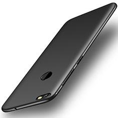 Silikon Hülle Handyhülle Ultra Dünn Schutzhülle Tasche S01 für Huawei Enjoy 7 Schwarz