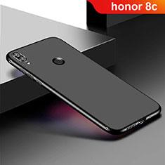 Silikon Hülle Handyhülle Ultra Dünn Schutzhülle Tasche S01 für Huawei Honor Play 8C Schwarz