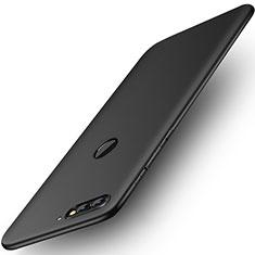 Silikon Hülle Handyhülle Ultra Dünn Schutzhülle Tasche S01 für Huawei Y7 (2018) Schwarz