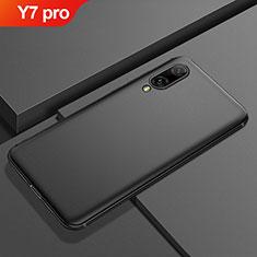 Silikon Hülle Handyhülle Ultra Dünn Schutzhülle Tasche S01 für Huawei Y7 Pro (2019) Schwarz