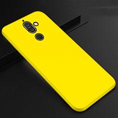 Silikon Hülle Handyhülle Ultra Dünn Schutzhülle Tasche S01 für Nokia 7 Plus Gelb