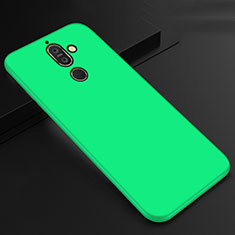Silikon Hülle Handyhülle Ultra Dünn Schutzhülle Tasche S01 für Nokia 7 Plus Grün