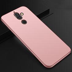 Silikon Hülle Handyhülle Ultra Dünn Schutzhülle Tasche S01 für Nokia 7 Plus Rosegold