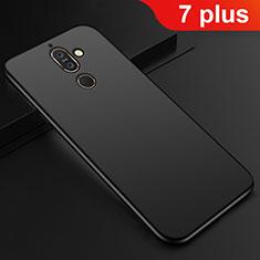 Silikon Hülle Handyhülle Ultra Dünn Schutzhülle Tasche S01 für Nokia 7 Plus Schwarz