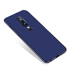 Silikon Hülle Handyhülle Ultra Dünn Schutzhülle Tasche S01 für OnePlus 6 Blau