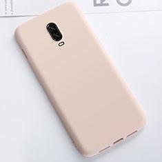 Silikon Hülle Handyhülle Ultra Dünn Schutzhülle Tasche S01 für OnePlus 6T Gold